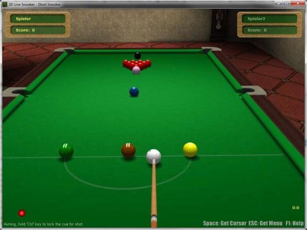 3D Live Snooker PC-Spiel