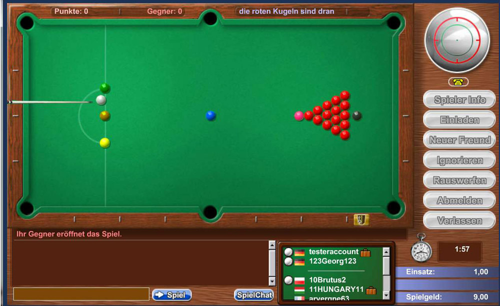 Skill7 Snooker Game