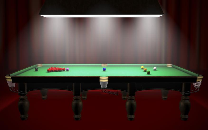 Snookertisch Maße