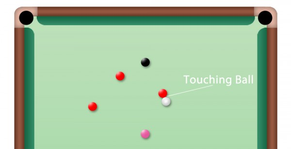 Touching Ball beim Snooker