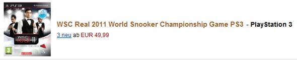 PS3 Snooker-Spiel